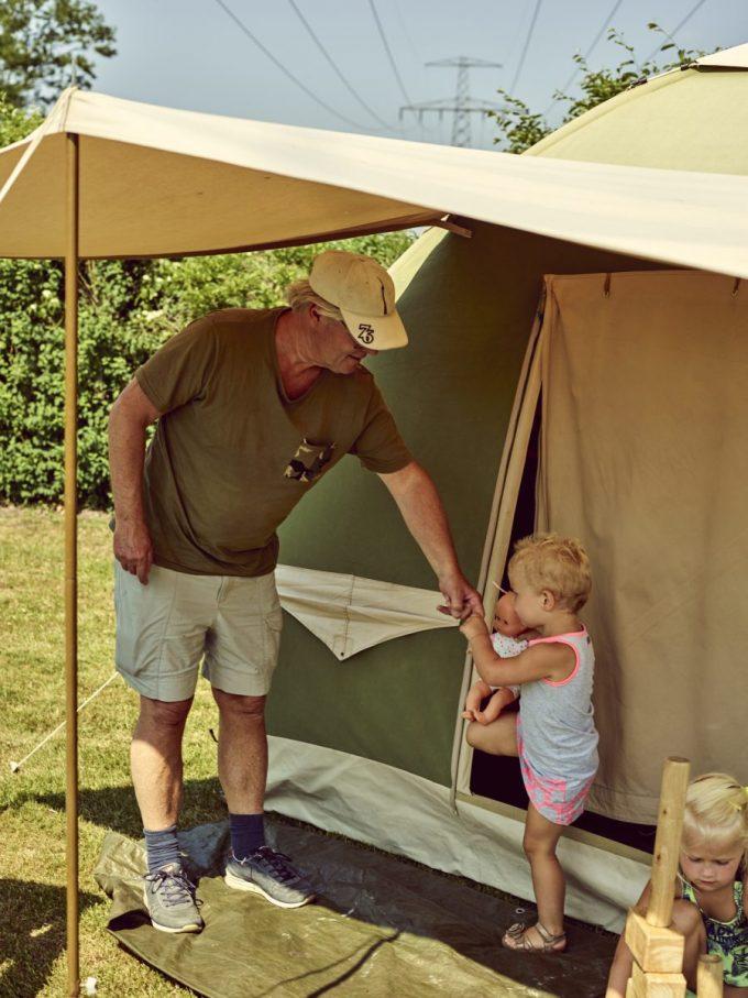 Kamperen met de tent op Camping Midden Drenthe
