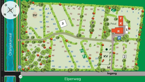 Plattegrond van Camping Midden Drenthe